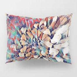Japanese Inspired Lily Design Sketch Pillow Sham
