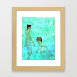 underwater tryst Framed Art Print
