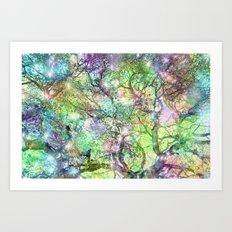 Galaxy Tree Art Print