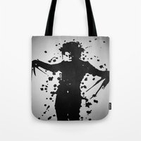 edward scissorhands Tote Bags featuring Edward Scissorhands by Emma Porter