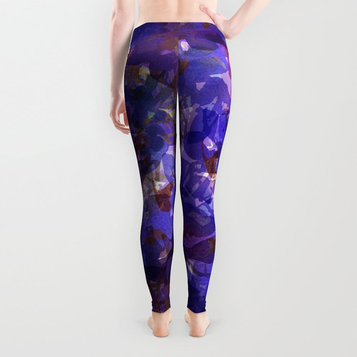 Deep Purple Violets Leggings