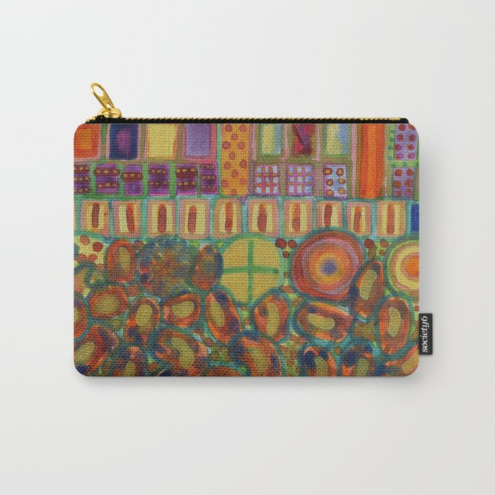 Decorated and illuminated House  Carry-All Pouch