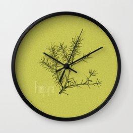 Pinophyta Wall Clock