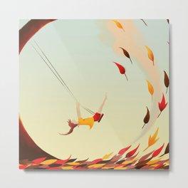 Swinging Metal Print