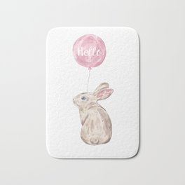Rabbit Greetings Bath Mat