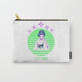 Vaporwave Anime Geisha Kyoto Kimono Carry-All Pouch