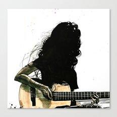 Silhouette Folk Canvas Print