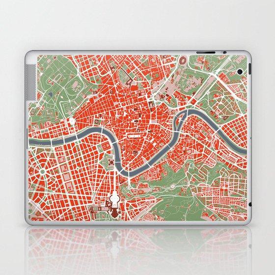 Rome city map classic Laptop & iPad Skin by planosurbanos | Society6
