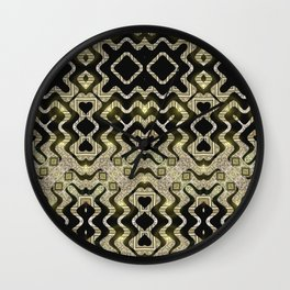 Tribal Gold Glam Wall Clock