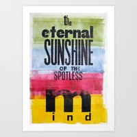 eternal sunshine of the spotless mind Art Prints featuring The eternal sunshine of the spotless mind by Federica Tumminello