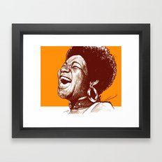 Aretha Franklin Framed Art Print