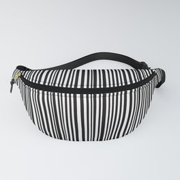 Simply small black and white handrawn stripes - vertical - Mix & Match with Simplicty of life Fanny Pack