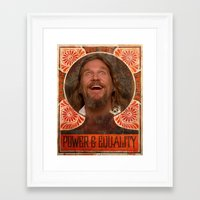 lebowski Framed Art Prints featuring Lebowski Pop by Guido prussia