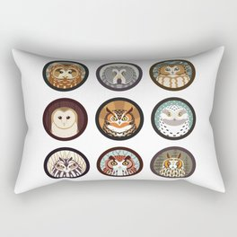 Owls of the Eastern United States Rectangular Pillow