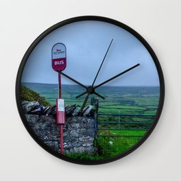 Irish Bus Stop - Ireland Wall Clock