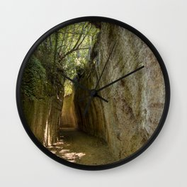 Excavated Etruscan Roads Wall Clock