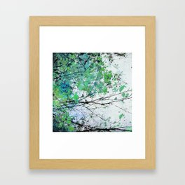 Autumn 5 Green Framed Art Print