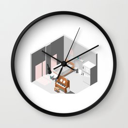BTS - Isometric room Wall Clock