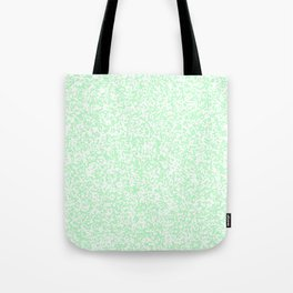 Tiny Spots - White and Mint Green Tote Bag