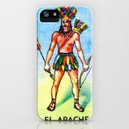 El Apache Mexican Loteria Bingo Card iPhone Case
