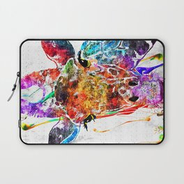 Giraffe Grunge Laptop Sleeve