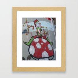 Joyeux Noel in Bethlehem Framed Art Print