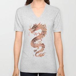 Chinese Dragon – Rose Gold Palette Unisex V-Neck