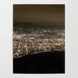 Chicago Night Lights 3 Poster