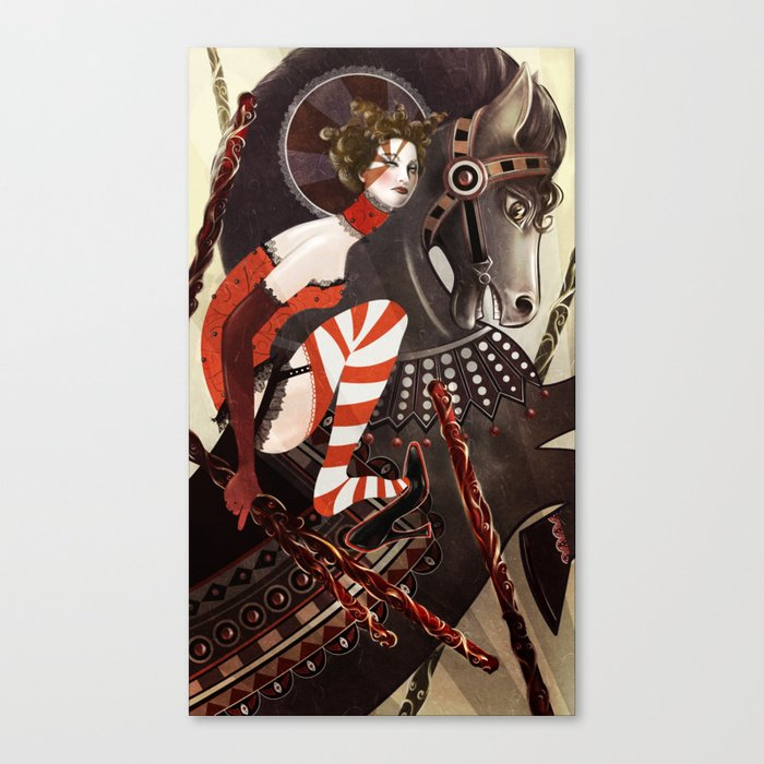 Amanda Palmer Six of Wands Canvas Print