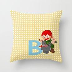 b for blacksmith Throw Pillow
