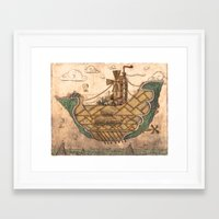 ship Framed Art Prints featuring Ship by Cacho de Colegiales