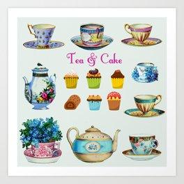 Tea & Cake Art Print