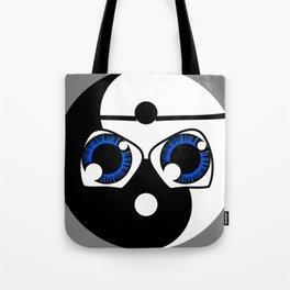 geeky yin yang Tote Bag
