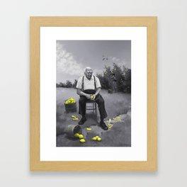 Lemon Man Framed Art Print