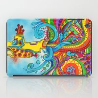 yellow submarine iPad Cases featuring The Yellow Submarine by Nick Swann