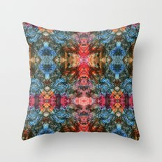 Oil Pastel Pattern Throw Pillow