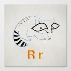R Raccoon Canvas Print