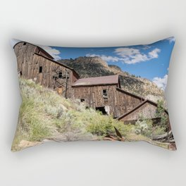 Old mill in Bayhorse Idaho, a ghost town Rectangular Pillow