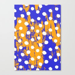 Abstract Texture Pattern 03 – Texture and Polka Dots Canvas Print