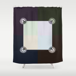 Spiral Lines 4 Dark and Light Colors Geometry Shower Curtain