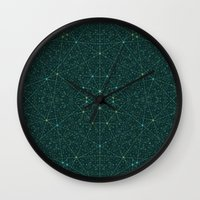 internet Wall Clocks featuring The Internet by FRAXTURED
