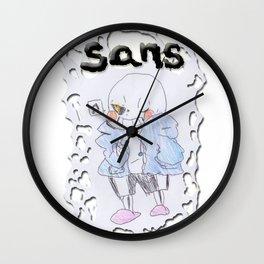 Sans - Undertale Friends -Pen Drawn Wall Clock