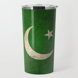 Old and Worn Distressed Vintage Flag of Pakistan Travel Mug