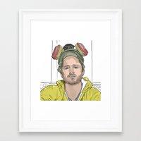 jesse pinkman Framed Art Prints featuring JESSE PINKMAN by VivaLaJim