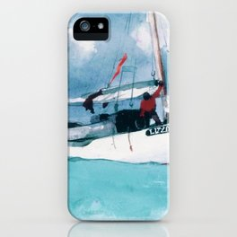 Fishing Boats, Key West - Digital Remastered Edition iPhone Case