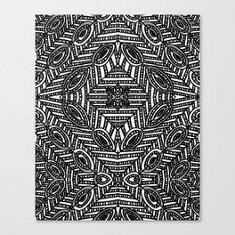 Tile Design Achromatic Canvas Print