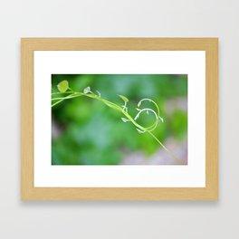 Cute Baby Curlicue Vines Framed Art Print