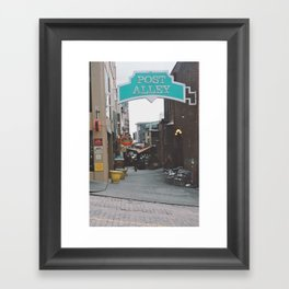 Post Alley Framed Art Print