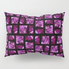 Fluid Art Pattern with Black Background Pillow Sham
