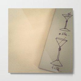 a toast. Metal Print